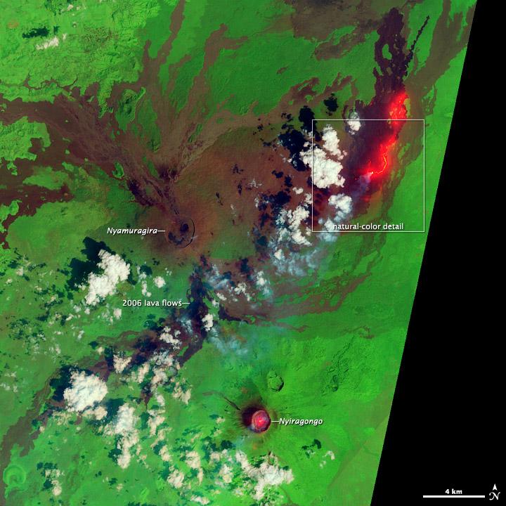 Lava Flow near Nyamuragira Volcano