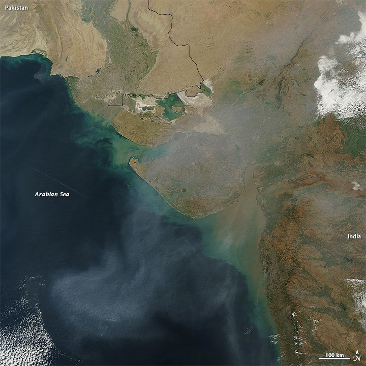 Haze over the Arabian Sea