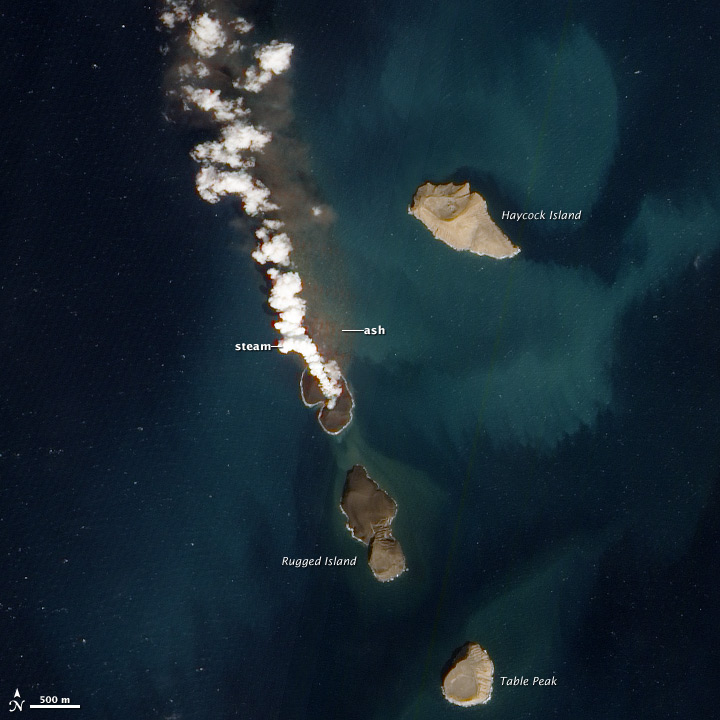 New Volcanic Island in the Red Sea