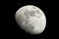 Two Earth Satellites Viewed From Houston