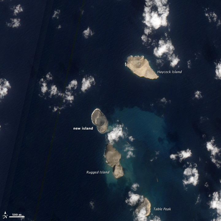 A Newborn Volcanic Island in the Red Sea