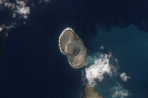A Newborn Volcanic Island in the Red Sea