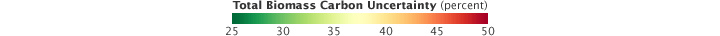 Color bar for Measuring Carbon and Trees in the Tropics