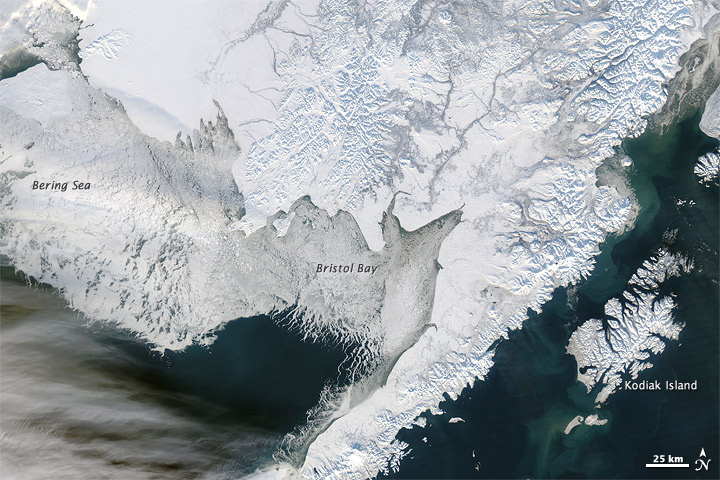 Sea Ice off Southwestern Alaska