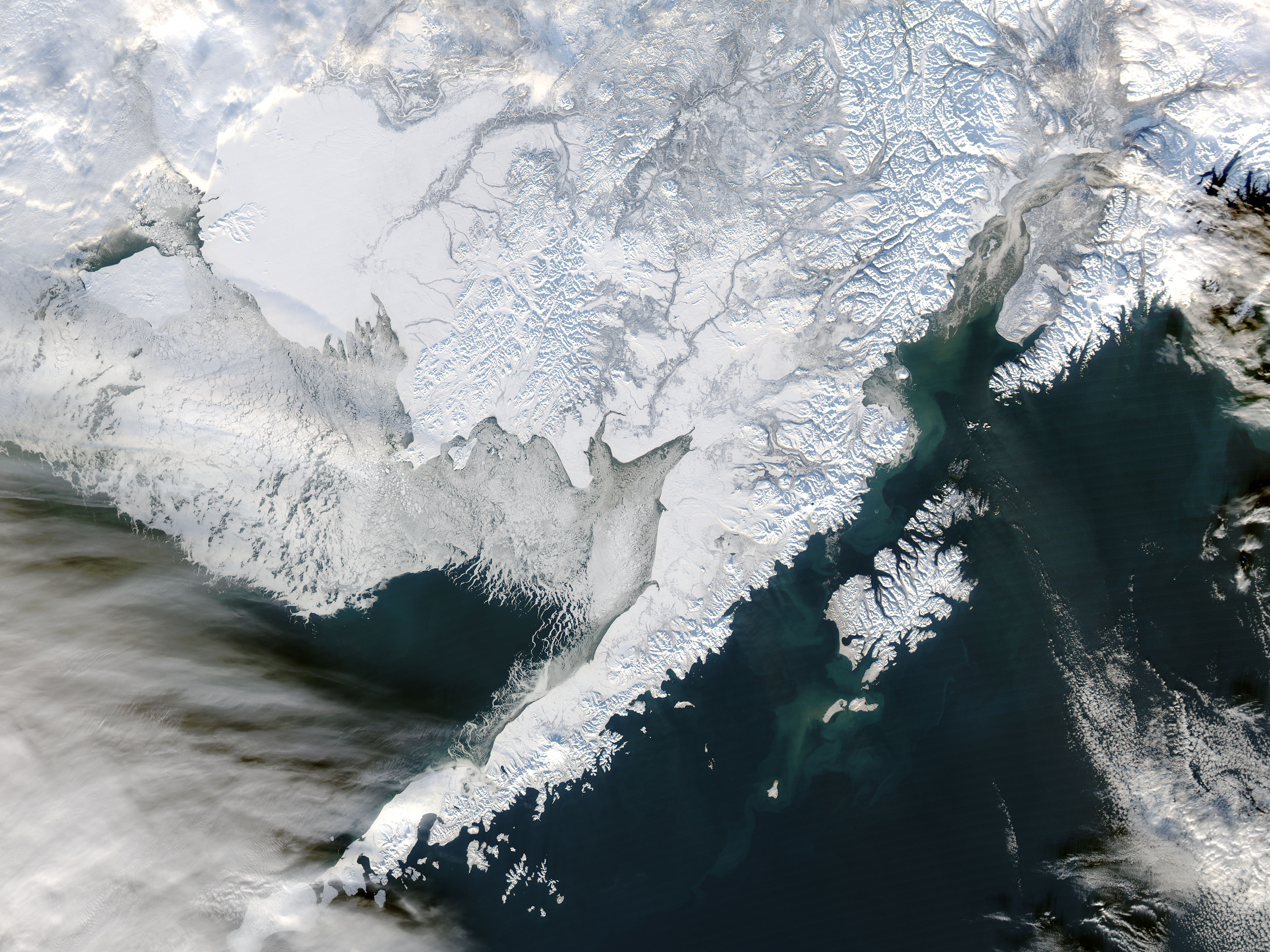 Sea Ice off Southwestern Alaska : Image of the Day