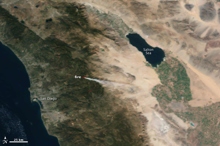 First Fire Images from VIIRS
