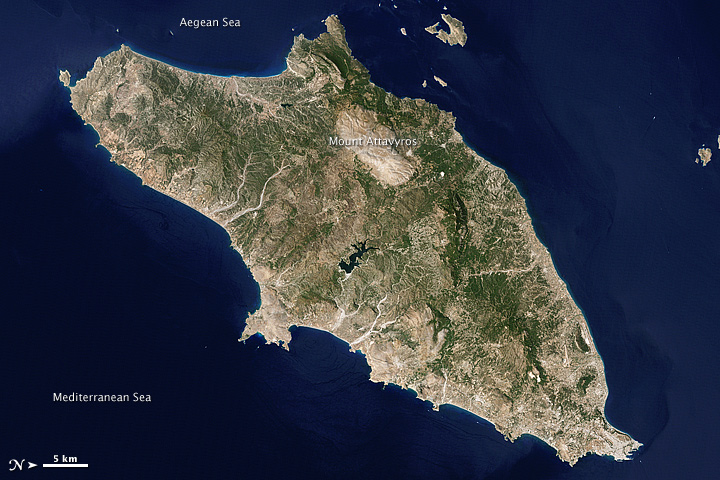 Map 77079.Nasa Visible Earth Rhodes Greece