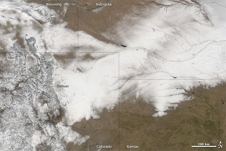 Heavy Snow in Colorado and Nebraska