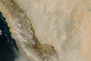 Dust over the Arabian Peninsula