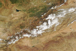 Snow in the Atlas Mountains of Morocco