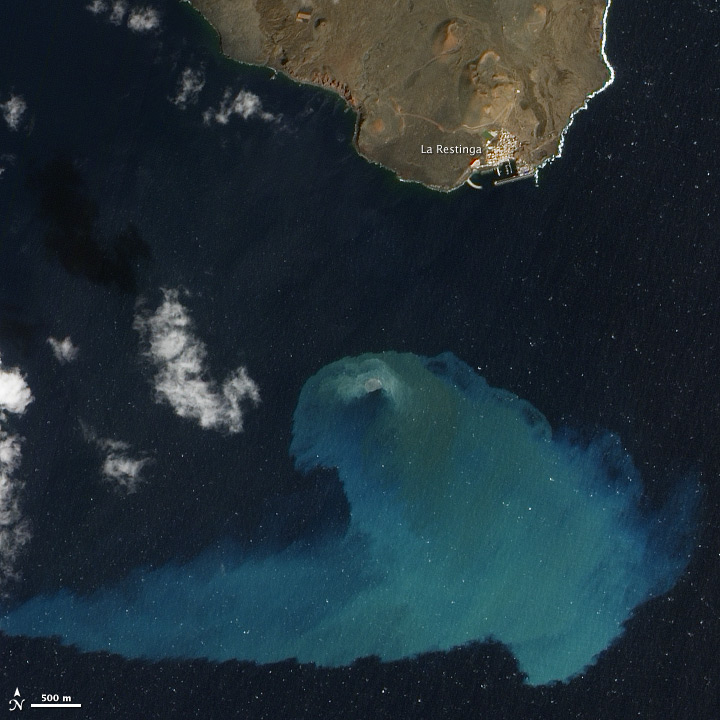 El Hierro Submarine Volcano Eruption