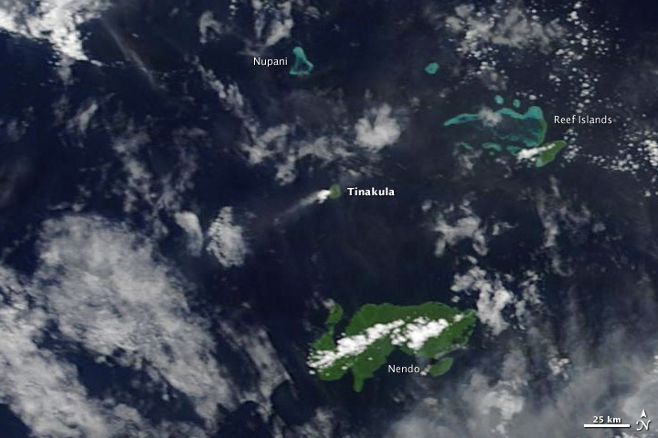 Steam and Ash Plume over Tinakula Island