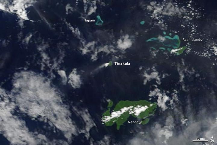 Steam and Ash Plume over Tinakula Island