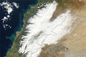 Heavy Snow in Lebanon and Syria