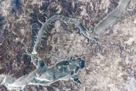 Ice Cover on Lake Sakakawea, North Dakota