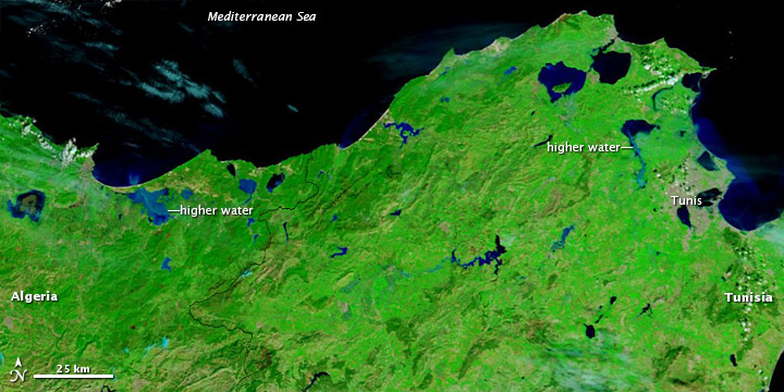 Floods in Northwestern Tunisia