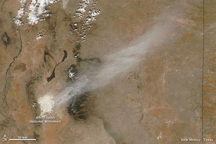 Dust Plume from White Sands