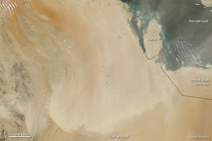 Dust over Saudi Arabia