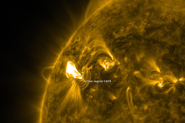 Sunspot and Flare, March 2012