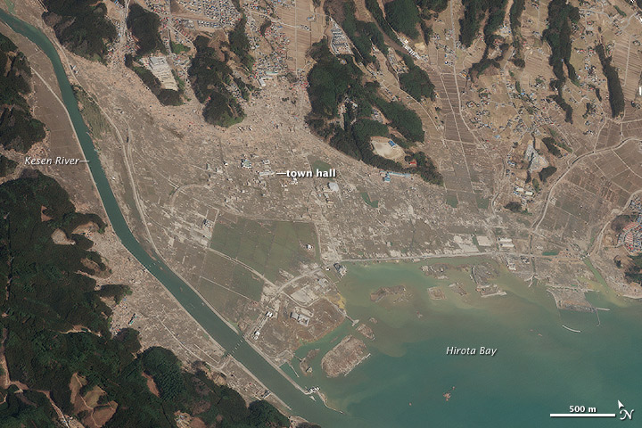 Tohoku Earthquake and Tsunami: Looking Back from Space