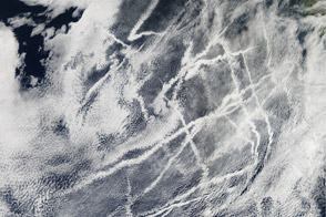 Ship Tracks off the California Coast - selected image