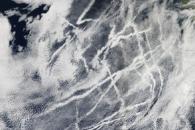 Ship Tracks off the California Coast
