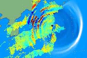 Quake and Tsunami Makes Waves in the Atmosphere - selected image