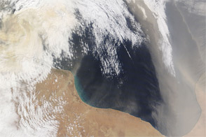 Dust over the Mediterranean Sea
