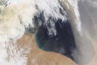 Dust over the Mediterranean Sea