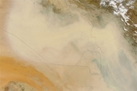 Dust over Saudi Arabia and the Persian Gulf