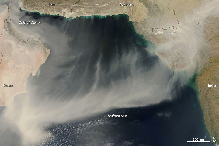 Dust over the Arabian Sea