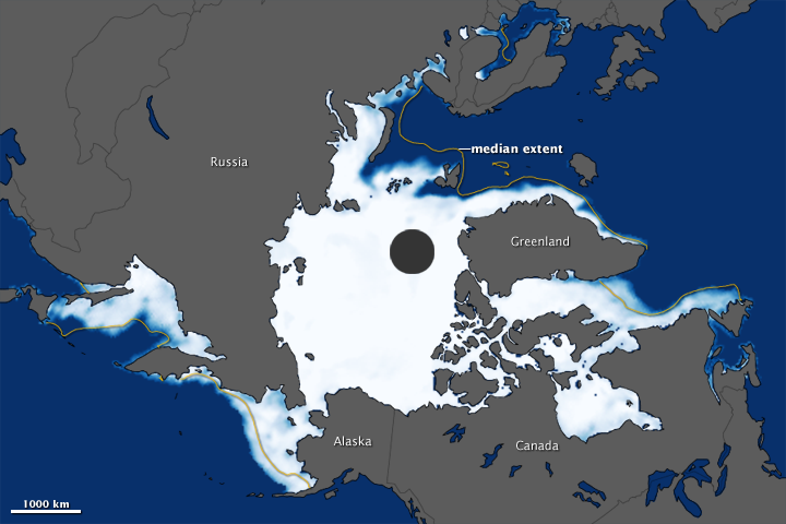 Arctic Sea Ice Maximum 2012