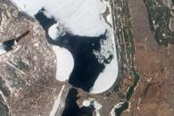 Ice on the Dnieper River, Ukraine
