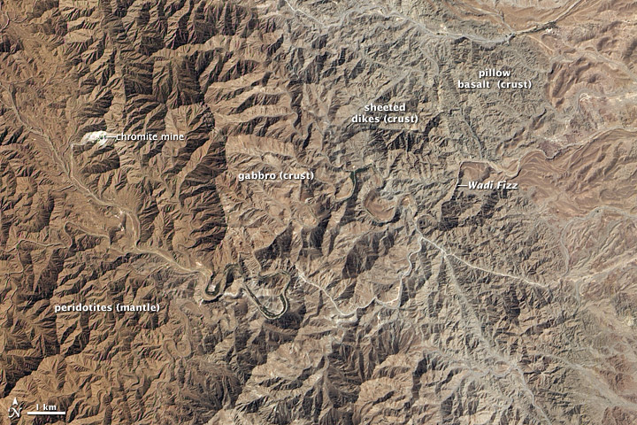 Earth's Crust Exposed in Oman