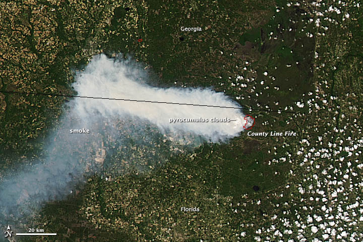 Wildfire Spreads Smoke Across Florida