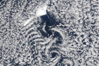 Von Kármán Vortices in the Greenland Sea