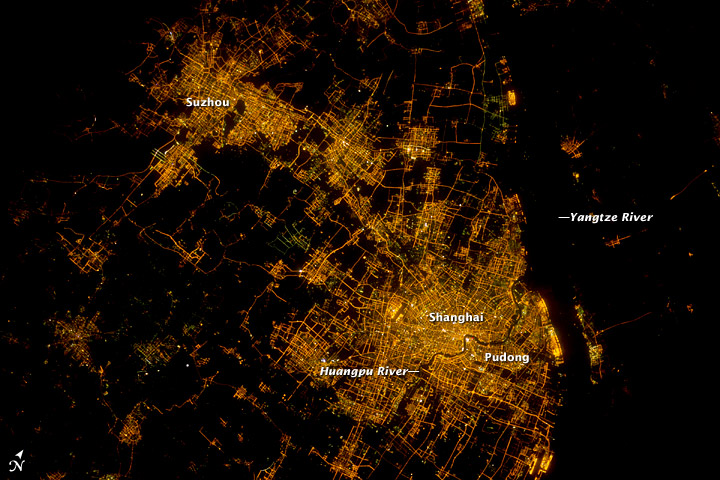 Shanghai At Night: A Growing City