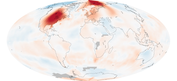 North America Swelters in March Heat
