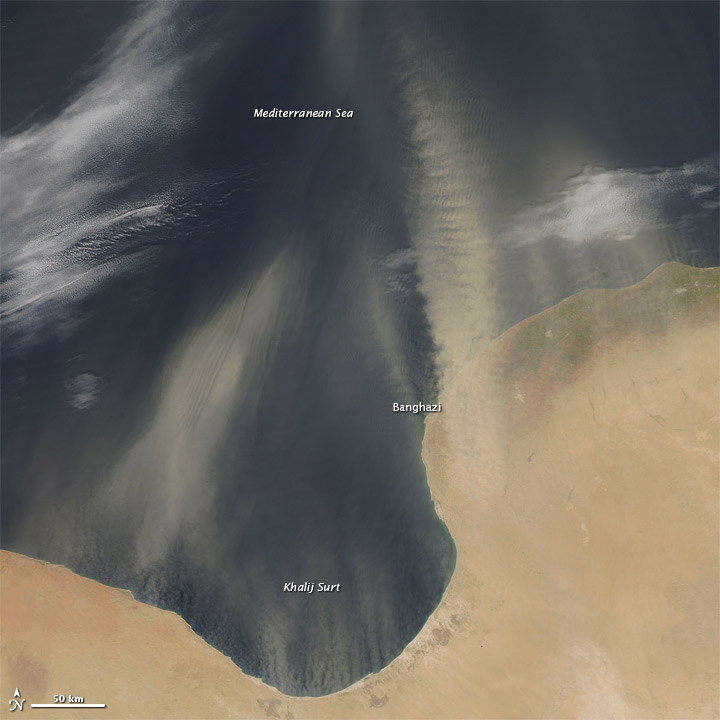 Dust off the Libya Coast