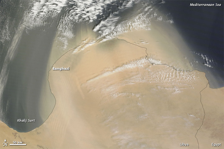 Dust off the Libya Coast