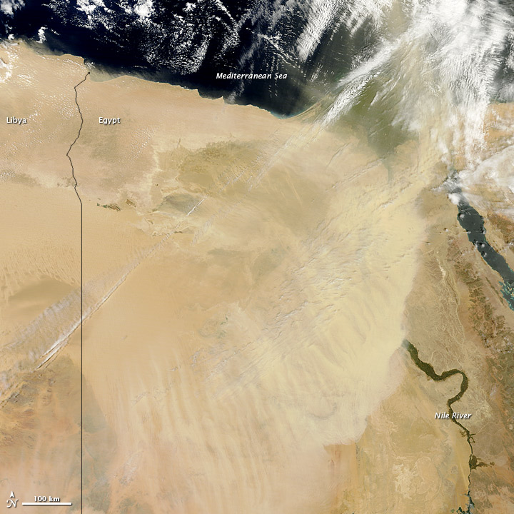 Dust over Egypt