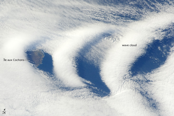Wave Clouds Near Île aux Cochons, Southern Indian Ocean