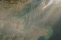 Dust over Mongolia and China