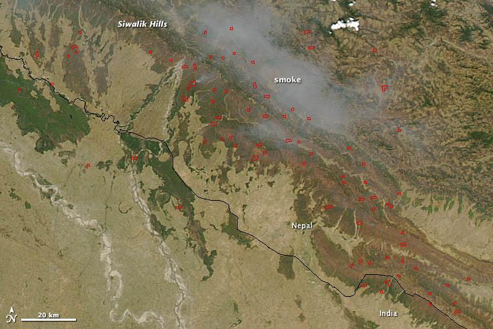 Fires in Nepal