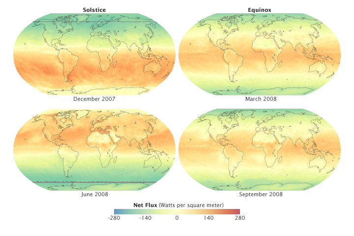 Seasonal Changes in Global Net Radiation - related image preview