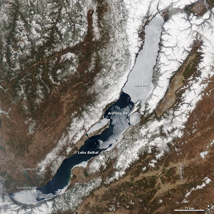Ice Melting on Lake Baikal