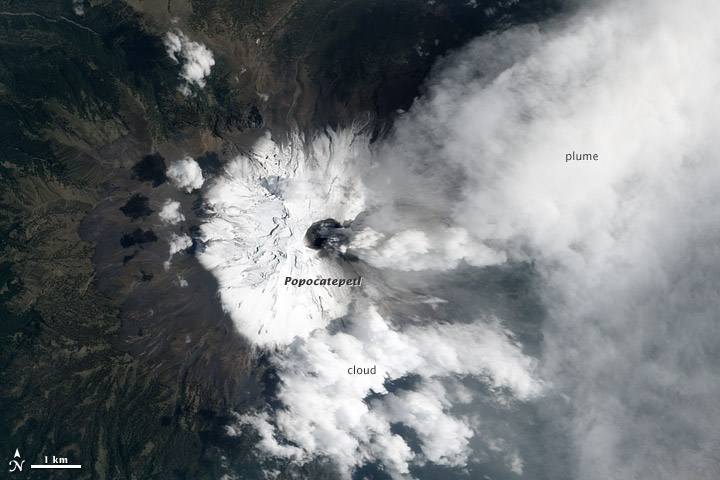 Activity at Popocatépetl