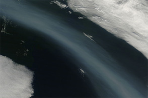 Smoke Plume from Baikal over Bering?