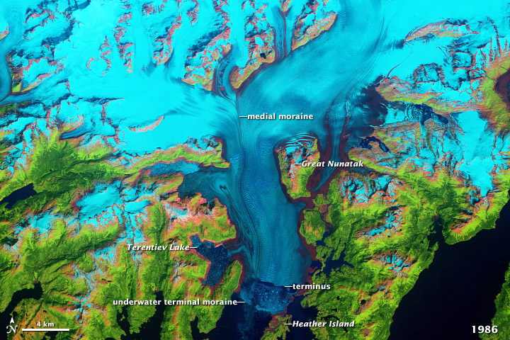Retreat of Alaska's Columbia Glacier