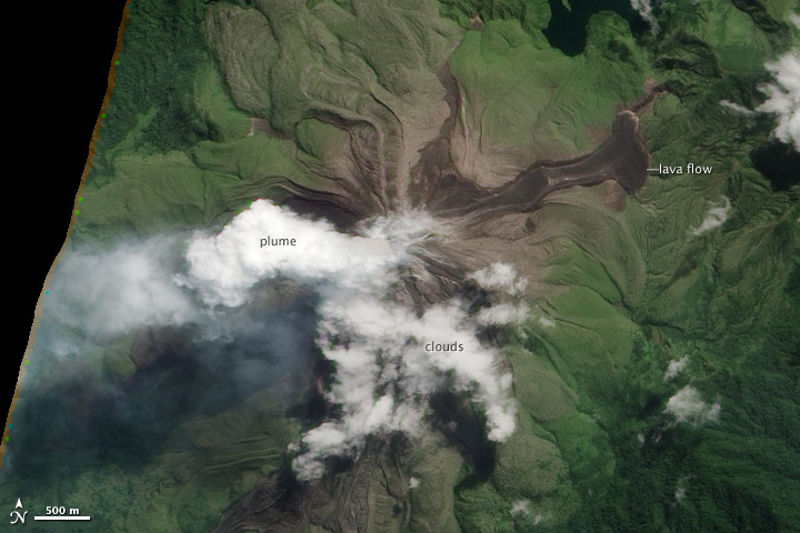 Fresh Lava Flow on Bagana Volcano